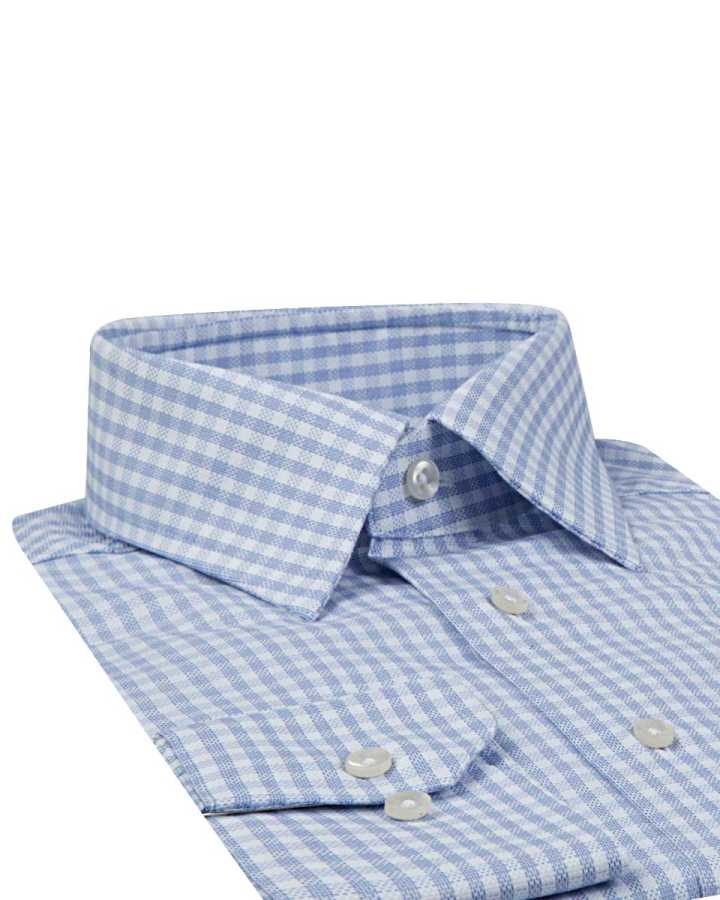 D'S Damat Plaid Blue Shirt | Regular