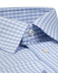 D'S Damat Plaid Blue Shirt | Regular - Thumbnail