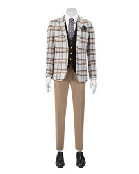 DS DAMAT - D'S Damat Combined Plaid Suit | Slim Fit