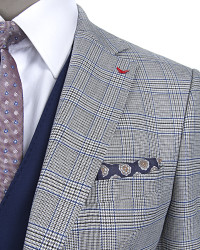 D'S Damat Three Pieces Suit | Slim Fit - Thumbnail