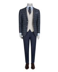 DS DAMAT - DS DAMAT THREE PIECES SUIT (Slim Fit)