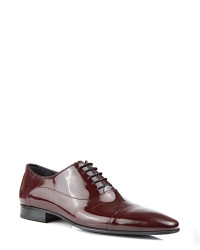 DS DAMAT - D'S Damat Burgundy Tuxedo Shoes