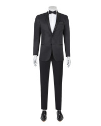 DS DAMAT - D'S Damat Black Tuxedo Suit | Slim Fit