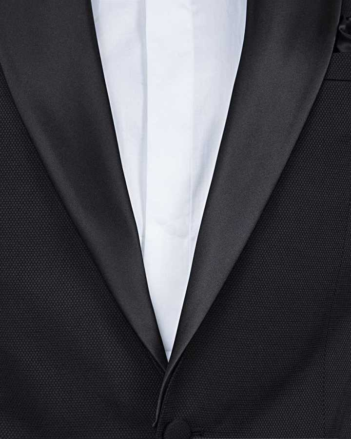 D'S Damat Black Tuxedo Suit | Slim Fit