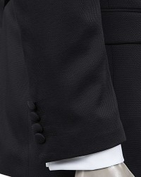 D'S Damat Black Tuxedo Suit | Slim Fit - Thumbnail