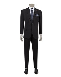 DS DAMAT - D'S Damat Black Travel Suit | Comfort Fit