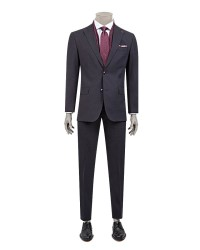 DS DAMAT - D'S Damat Plaid Burgundy Suit | Regular Fit