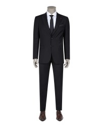 DS DAMAT - D'S Damat Black Travel Suit | Regular Fıt