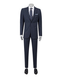 DS DAMAT - D'S Damat Navy Blue Suit | Regular Fit