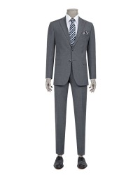 DS DAMAT - D'S Damat Grey Suit | Slim Fit