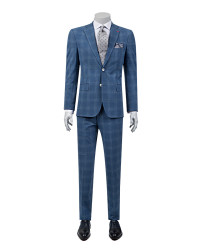 DS DAMAT - D'S Damat Plaid Navy Blue Suit | Slim Fit