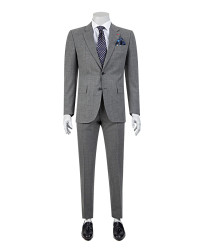 DS DAMAT - D'S Damat Chequered Grey Suit | Regular Fit