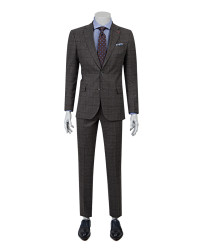 DS DAMAT - D'S Damat Anthracite Plaid Suit | Slim Fit