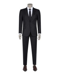 DS DAMAT - D'S Damat Black Travel Suit | Slim Fit