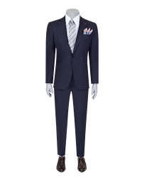 DS DAMAT - D'S Damat Navy Blue Travel Suit | Slim Fit