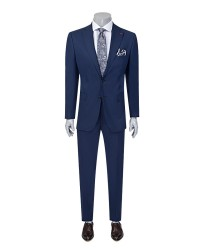 DS DAMAT - D'S Damat Blue Travel Suit | Slim Fit