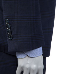 D'S Damat Navy Blue Suit | Slim Fit - Thumbnail