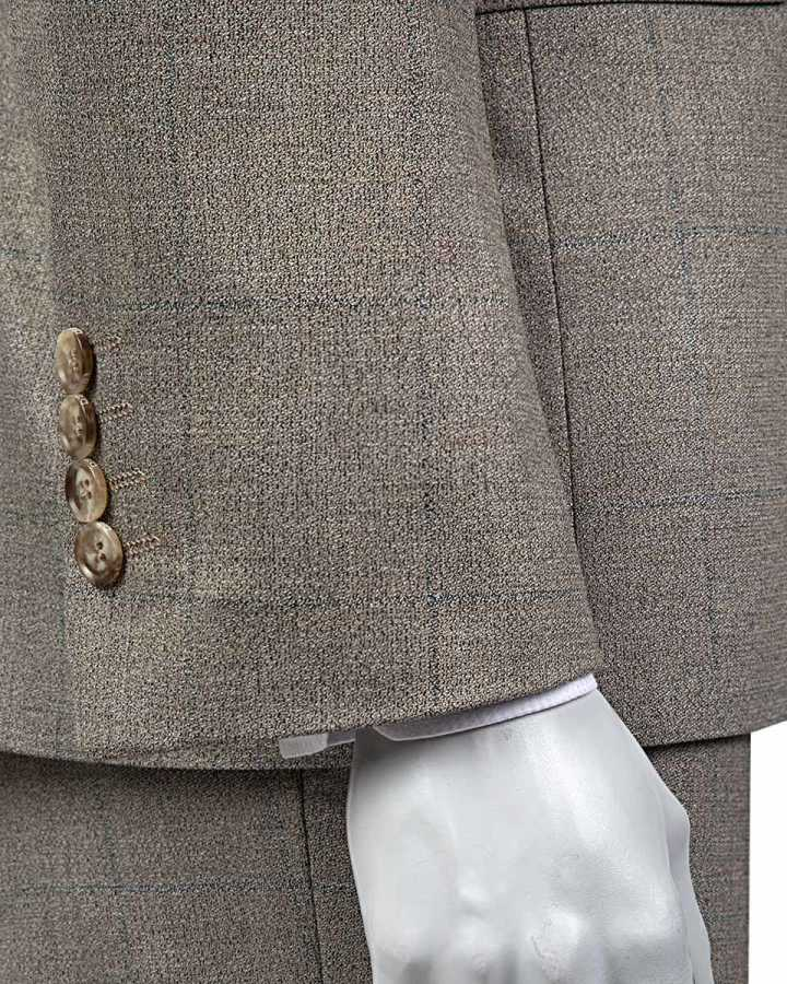 D'S Damat Beige Suit | Slim Fit