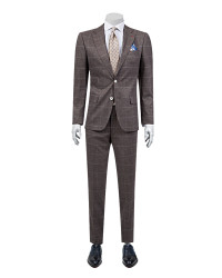 DS DAMAT - D'S Damat Burgundy Suit | Slim Fit