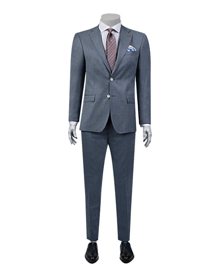 D'S Damat Navy Blue Suit | Slim Fit