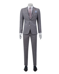 DS DAMAT - D'S Damat Patterned Brown Suit | Slim Fit