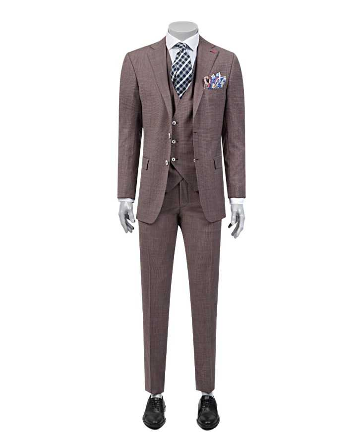 D'S Damat Suit with Vest | Slim Fit