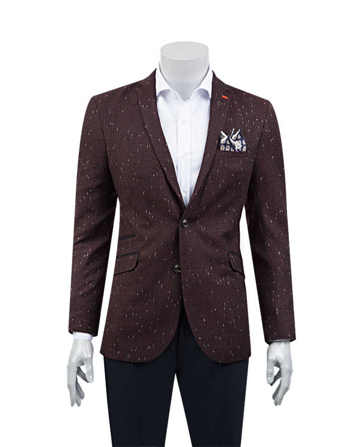 TWN Burgundy Jacket | Slim Fit