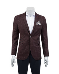 TWN - TWN Burgundy Jacket | Slim Fit