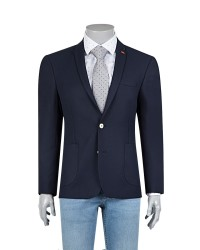 TWN - Twn Navy Blue Jacket | Slim Fit