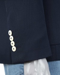 Twn Navy Blue Jacket | Slim Fit - Thumbnail