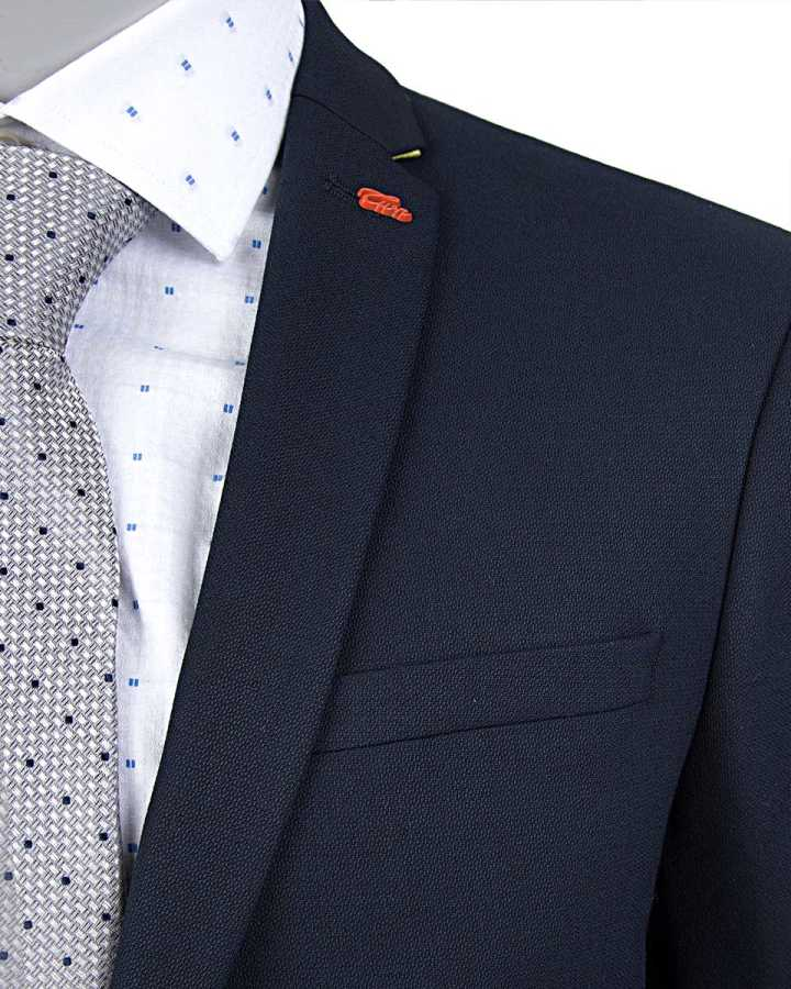 Twn Navy Blue Jacket | Slim Fit