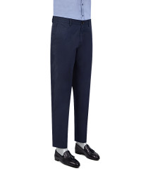 TWN - TWN Navy Blue Chino Trousers | Slim Fit