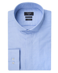 TWN - TWN Blue Patterned Shirt | Slim Fit