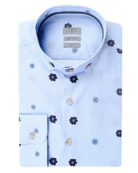 TWN - TWN Patterned Blue Shirt | Slim Fit