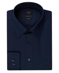TWN - Twn Navy Blue Shirt | Slim Fit