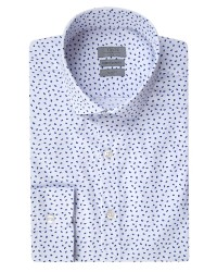 TWN - Twn Printed White Shirt | Slim Fit