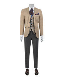 TWN - Twn Combined Suit Camel | Slim Fit