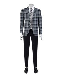 TWN - TWN Combined Plaid Suit | Slim Fit