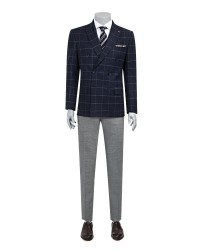 TWN - TWN Plaid Combined Suit | Super Slim Fit
