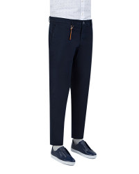 TWN - TWN Navy Blue Trousers | Slim Fit