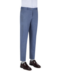 TWN - Twn Patterned Blue Trousers | Slim Fit