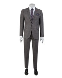 TWN - TWN Patterned Anthracite Suit | Slim Fit