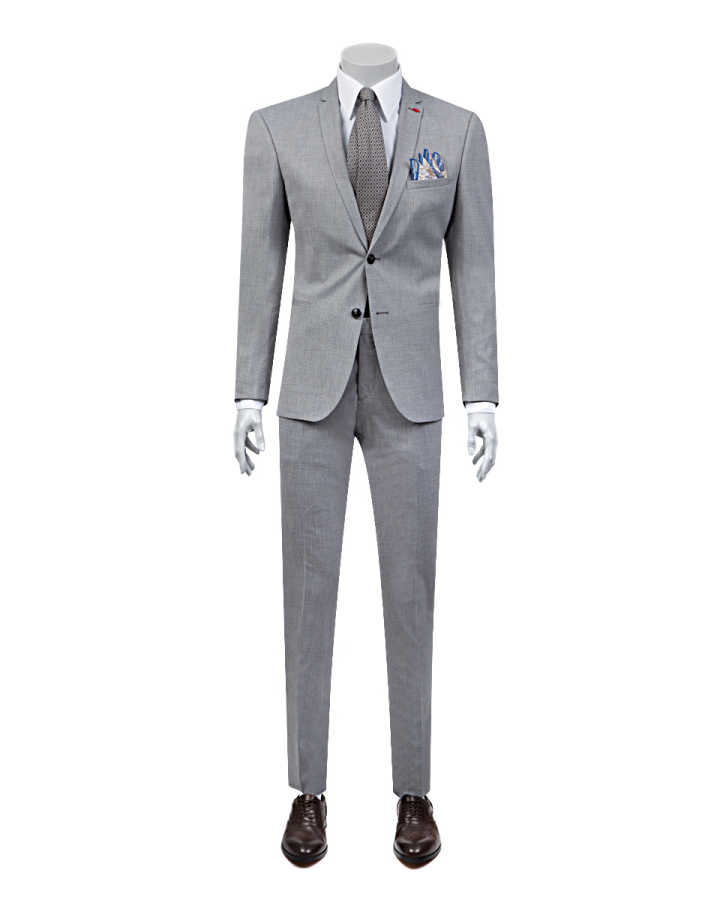 Twn Grey Suit | Super Slim Fit