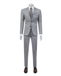Twn Grey Suit | Super Slim Fit - Thumbnail