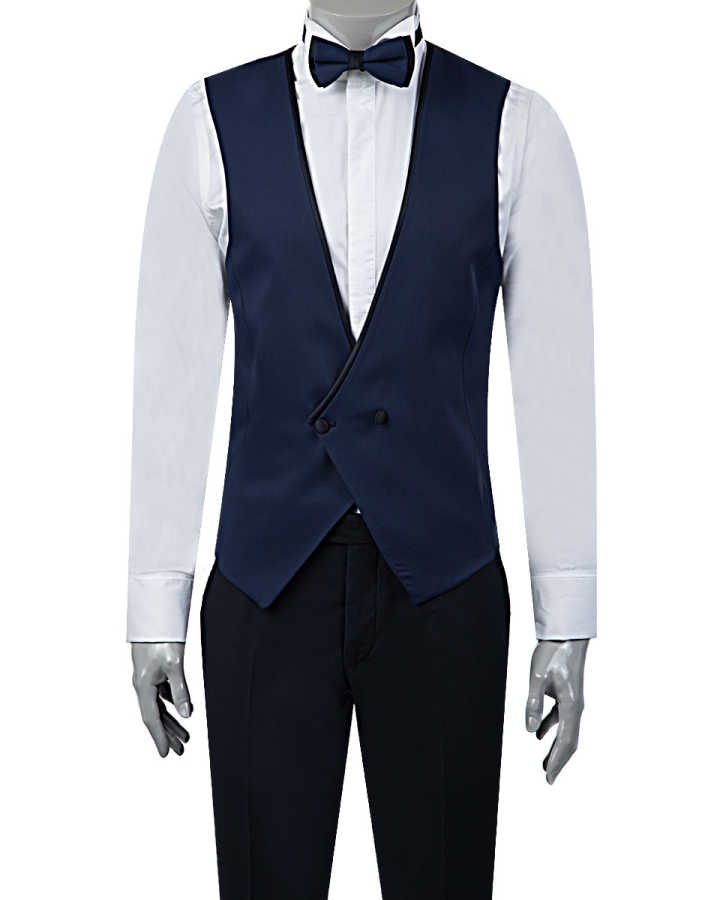 TWN Tuxedo Suit with Vest | Super Slim Fit