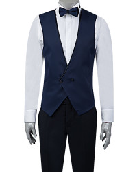 TWN Tuxedo Suit with Vest | Super Slim Fit - Thumbnail
